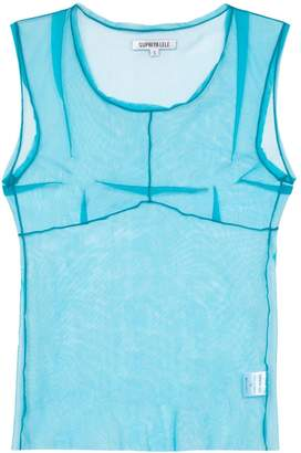Supriya Lele Saree sheer-mesh vest top