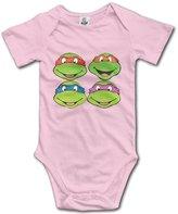 Kra8er Teenage Mutant Ninja Turtles Unisex Boys Girls Baby Bodysuits Onesies 100% Cotton