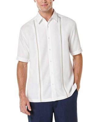 Cubavera Panel Shirt - Contrast Stitching