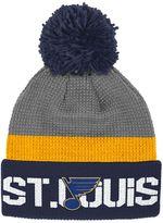 Reebok Adult St. Louis Blues Cuffed Pom Knit Hat