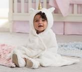 Pottery Barn Kids Faux Fur Unicorn Baby Hooded Towel