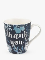 Cath Kidston 'Thank You' Nature Stanley Mug, 400ml, Navy/Multi