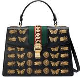 Gucci Sylvie animal studs leather top handle bag