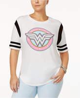 Hybrid Trendy Plus Size Wonder Woman Graphic T-Shirt