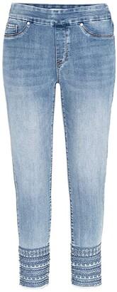 Tribal Audrey Pull-On Ankle Jeggings in Blue Glow (Blue Glow) Women's Jeans
