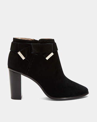 Ted Baker ANAEDI Bow detail suede ankle boots