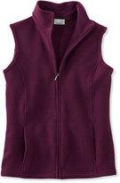 L.L. Bean Comfort Fleece, Mock-Neck Vest