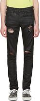 Off-White Black Slim Rips Diagonal Jeans