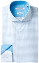 Isaac Mizrahi Printed Diamond Slim Fit Dress Shirt