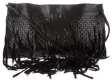Bottega Veneta Intrecciato Fringe Foldover Crossbody Bag
