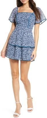 Ali & Jay Country Mart Floral Tiered Chiffon Minidress