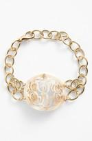 Moon and Lola Women's 'Annabel' Medium Oval Personalized Monogram Bracelet (Nordstrom Exclusive)