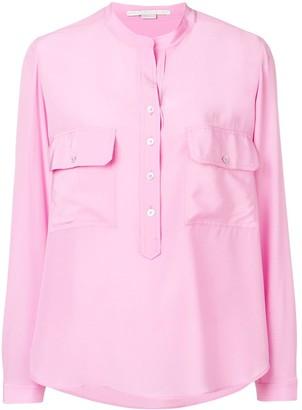 Stella McCartney draped collarless blouse