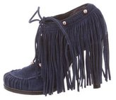 Mulberry Fringe Ankle Booties