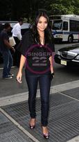 Lightweight Super Skinny Jean in Ink style#91010 as seen on Vanessa Hudgens