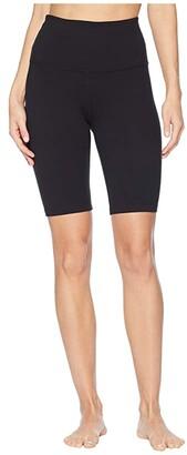 Beyond Yoga Supplex High Waisted Biker Shorts (Jet Black) Women's Shorts