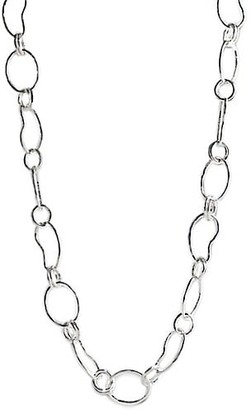 Ippolita Classico Long Sterling Silver Hammered Prosper Chain Necklace