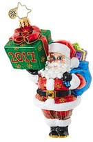 Christopher Radko Wrapping Up The Year Santa Claus Ornament