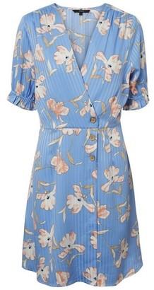 Dorothy Perkins Womens **Vero Moda Blue Floral Print Wrap Dress, Blue