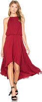 Haute Hippie High Neck Dress in Red