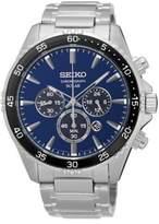 Seiko Solar Chronograph Stainless Steel Bracelet Strap Watch
