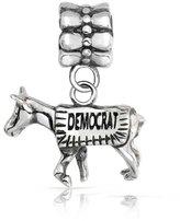 Bling Jewelry Patriotic 925 Sterling Silver Democrat Donkey Dangle Charm Fits Pandora
