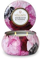 Voluspa Two Wick 11 oz. Metallo Candle, Amaranth & Jasmine