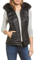 MICHAEL Michael Kors Women's Faux Fur Trim Down Vest