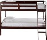 Dream On Me Taylor 2-in-1 Twin Over Twin Bunk Bed, Mahogany