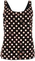 Saint Laurent mirrored eyelet embellished vest top
