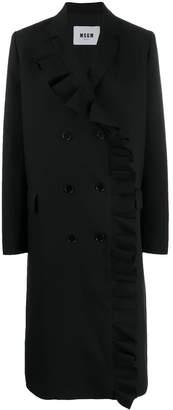 MSGM double breasted ruffle coat
