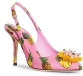 Dolce & Gabbana Women's Pineapple Slingback Pump