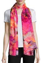 Bindya Spring Floral-Print Cashmere & Silk Scarf