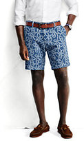 "Classic Men's 9"" Print Casual Chino Shorts Navy Lighthouse Print"