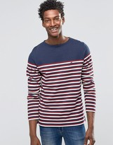 Hilfiger Denim Long Sleeve Top With Breton Stripe