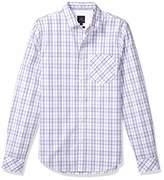 Armani Exchange A X Men's Long Sleeve Checkered Shirt