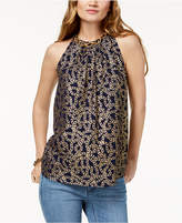 MICHAEL Michael Kors Chain-Embellished Halter Top,a Macy's Exclusive Style