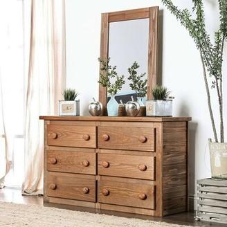 Millwood Pines Kropp 6 Drawer Double Dresser