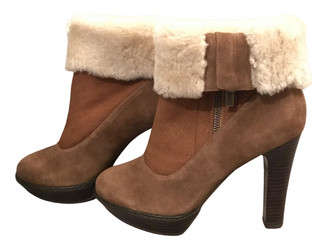 Minelli Camel Shearling Ankle boots