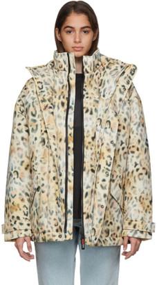 Martine Rose NAPA by Tan A-Jag Leopard Jacket