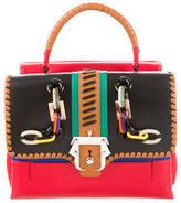 Paula Cademartori Red Lips Petite Faye Handbag
