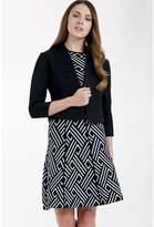 Select Fashion Fashion Womens Black Geo Jacquard Blazer - size 12