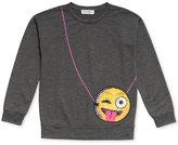 Jessica Simpson Emoji Purse-Pocket Sweatshirt, Big Girls (7-16)