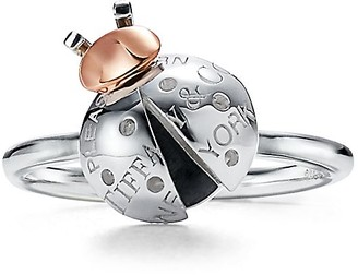 Tiffany & Co. Return to TiffanyTM Love Bugs ladybug ring in sterling silver and 18k rose gold