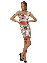 Dolce & Gabbana Printed Silk Satin Dress