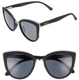 Quay Women's 'My Girl' 50Mm Cat Eye Sunglasses - Black/ Smoke Lens