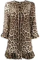 Dolce & Gabbana leopard print ruffle dress