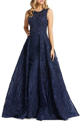 Mac Duggal Embroidered Ball Gown