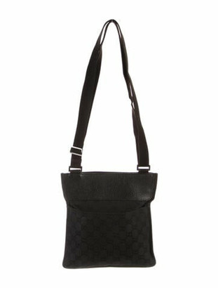 Gucci GG Canvas Messenger Bag Black