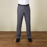 Karl Jackson Grey Plain Weave Regular Fit Trouser